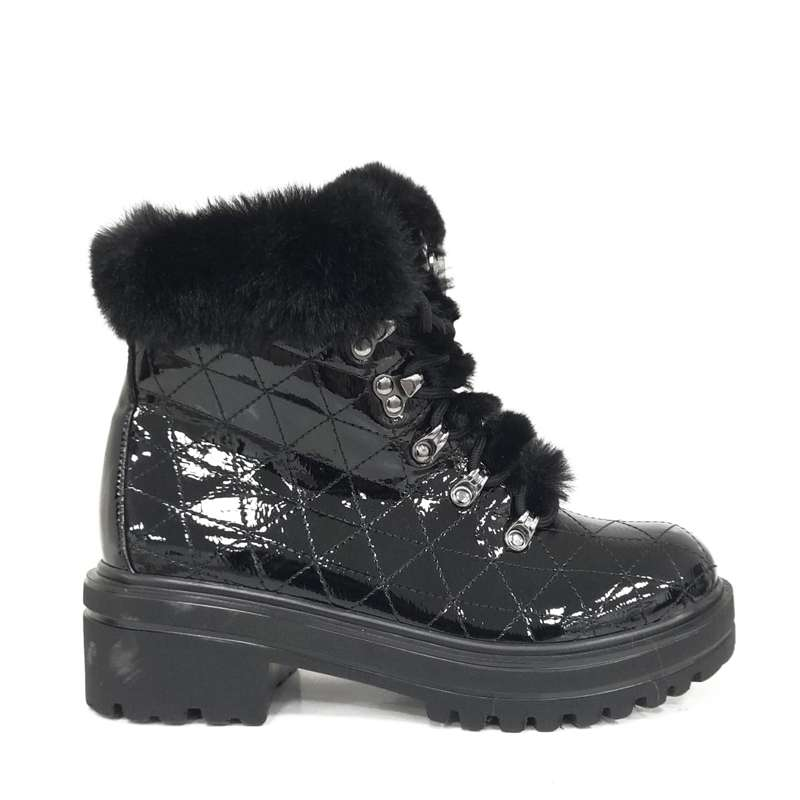 STIVALETTO FUR BLACK