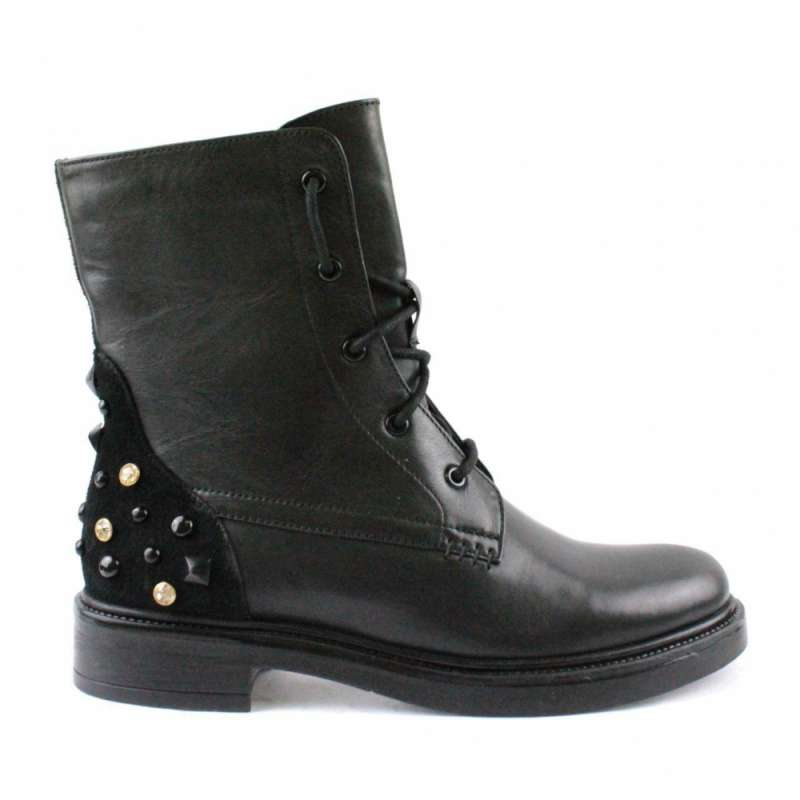 STIVALETTO LEATHER STUDS
