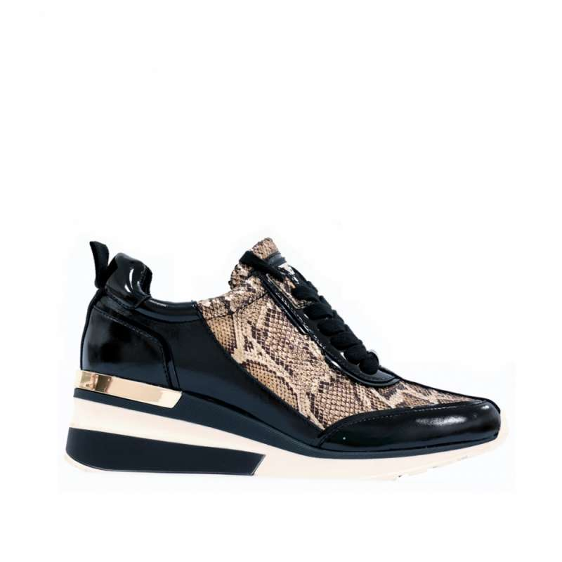 SNEAKERS MELVA BLACK & BRONZE
